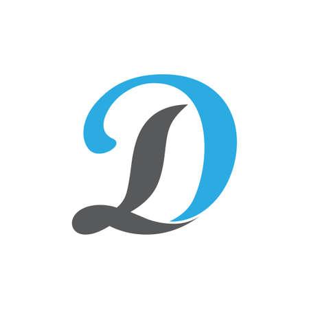 letter ld curves linked logo vector Foto de archivo - 138514021