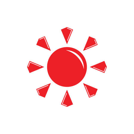 shine sun gems design logo vector Foto de archivo - 138514026