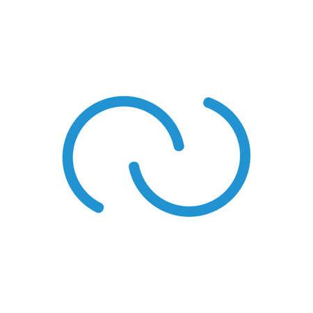 letter cc simple thin loop line logo vector Foto de archivo - 138514029