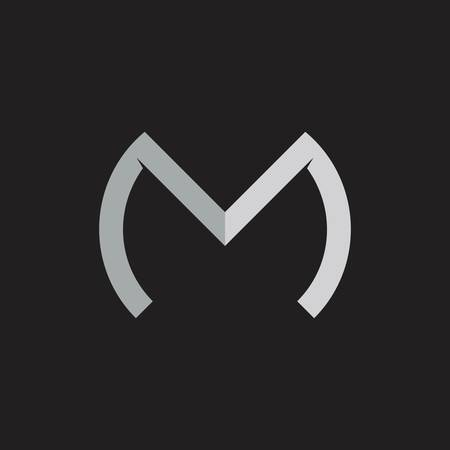 letter m simple geometric line logo vector Foto de archivo - 138514033