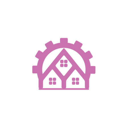 home resident group symbol logo vector Foto de archivo - 138514041