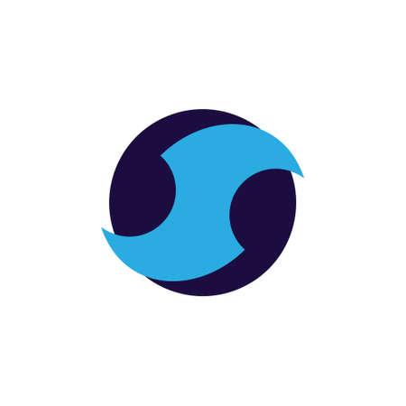 geometric letter s curves circle logo vector Foto de archivo - 138514221