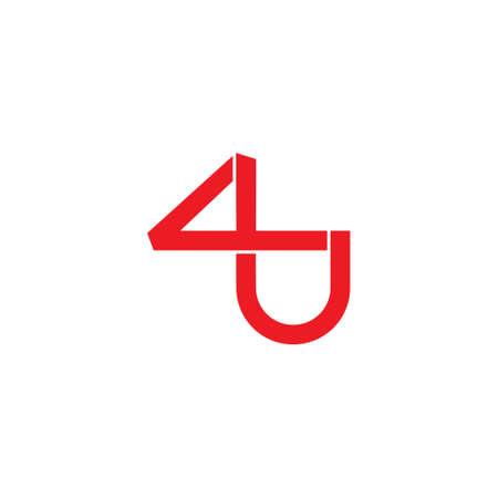 letter 4u  infinity lines geometric logo vector Foto de archivo - 138514223