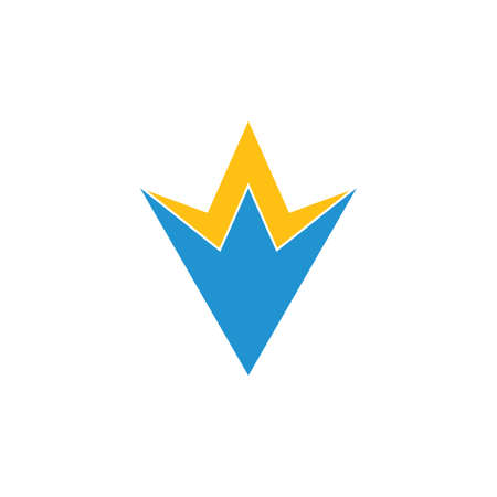 letter v geometric simple logo vector Foto de archivo - 138514228