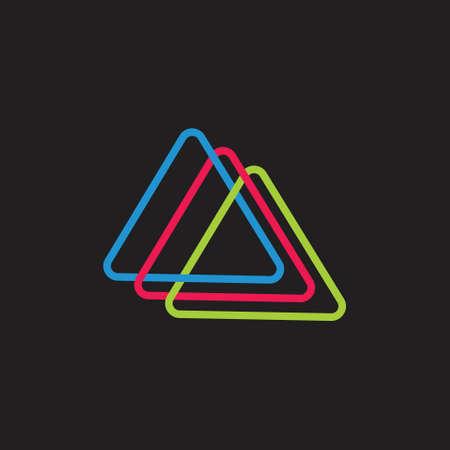 linked colorful triangle logo vector Foto de archivo - 138514229