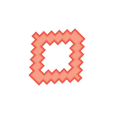 square pixel design logo vector