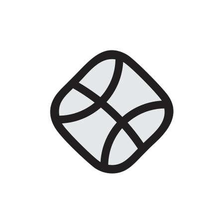 basket ball simple square geometric line logo vector Foto de archivo - 138514621