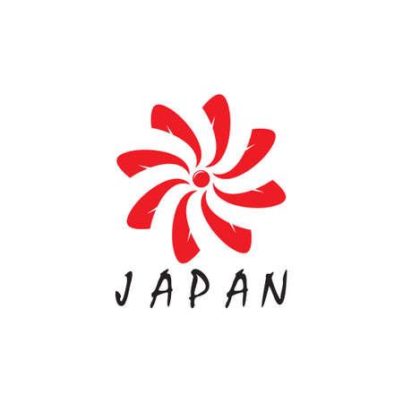 symbol vector of swirl sun japan geometric motion design