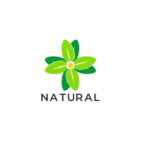 symbol vector of plus medical leaf natural medicine geometric design Foto de archivo - 138514678