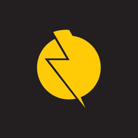 abstract thunder simple logo vector Foto de archivo - 138514683