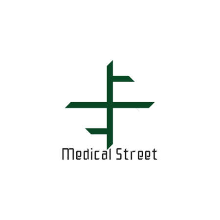 medical street symbol logo vector Foto de archivo - 138514685