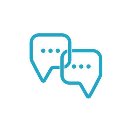 linked talk idea symbol vector