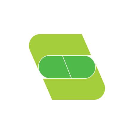 letter s capsule shape geometric logo vector