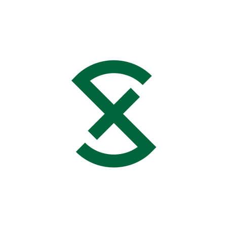 letter fs simple geometric logo vector