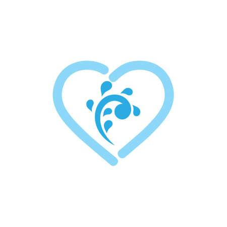 love water source symbol vector