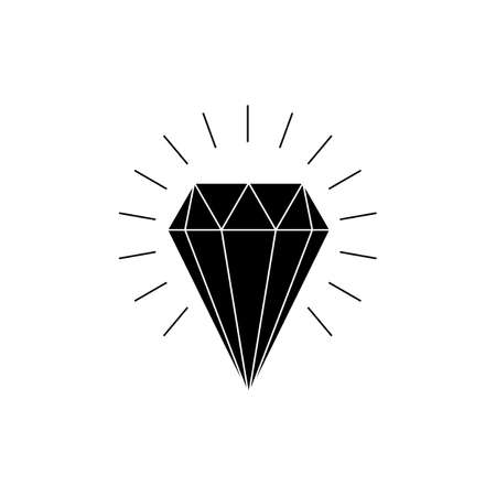 shine diamond geometric logo vector Ilustração