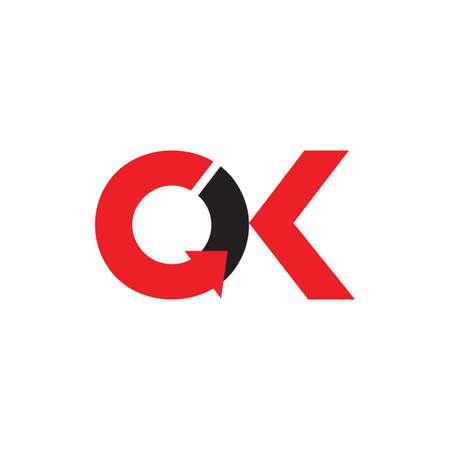 letter ck circle geometric arrow logo vector Logo