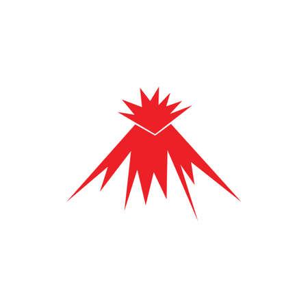 volcano mountain rock simple logo