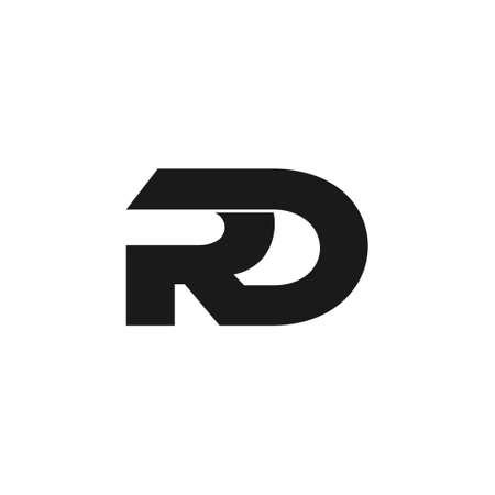 letter rd symbol linked geometric design logo vector