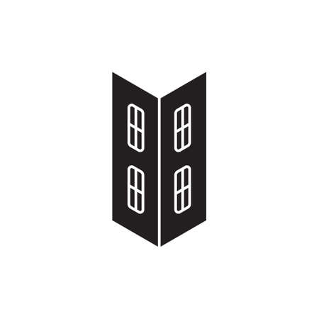 windows simple resident apartment symbol logo vector