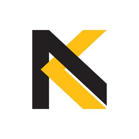 letter ak colorful geometric design logo vector Logo
