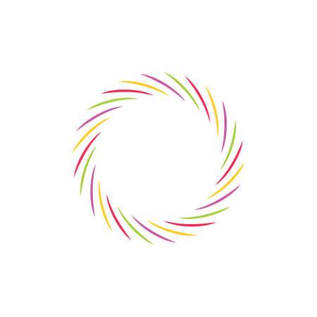 swirl colorful rotation decoration symbol vector