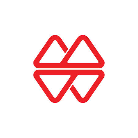 abstract letter mw geometric triangle line logo Illusztráció