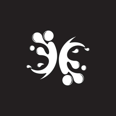 motion water splash symbol logo vector Illusztráció