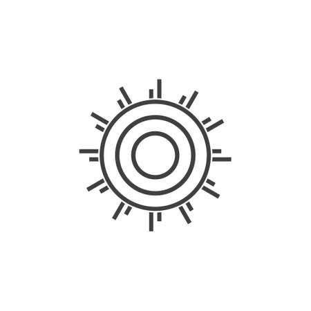 sun rays lines art geometric swirl logo vector