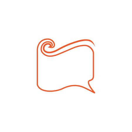 book wavy shape talk education symbol vector Illusztráció