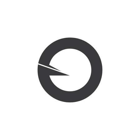 simple circle geometric rotate arrow logo vector