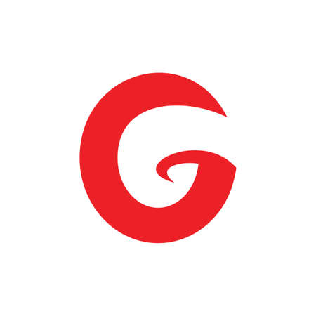 letter g curves circle simple logo vector