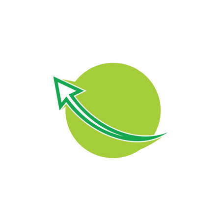 green earth movement arrow geometric logo Illusztráció