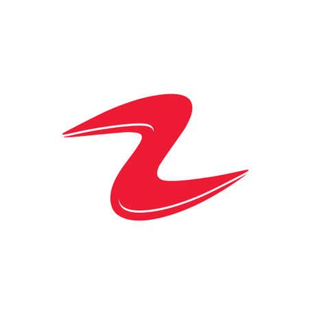 abstract curves shape simple logo vector Illusztráció