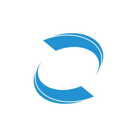 circle geometric rotate logo vector Illusztráció