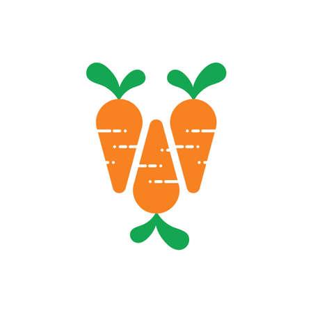 carrots group symbol logo vector Illusztráció