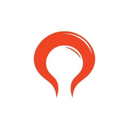 motion red flame curves abstract logo Illusztráció