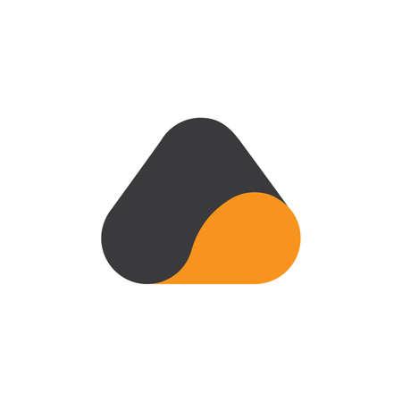 triangle curves 3d abstract logo vector Illusztráció