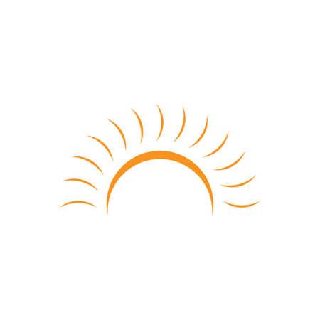 sun light simple design brand logo vector