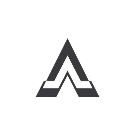triangle arrow pyramid geometric logo vector