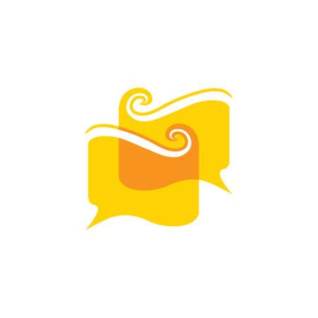 linked book talk education symbol vector Illusztráció