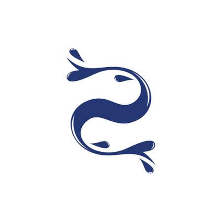curves motion water splash design logo vector