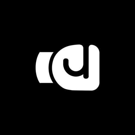 letter j boxing gloves shape logo vector
