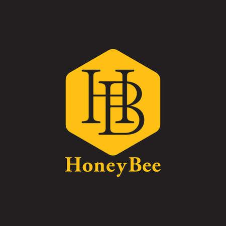 letter hb linked line logo vector Ilustracja