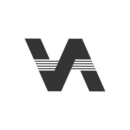 letter va simple geometric logo vector Illusztráció