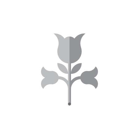 rose plant shadow design logo vector Illusztráció