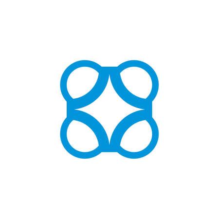 circle abstract star shape geometric logo vector