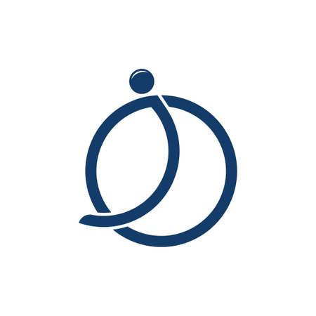 circle object motion global logo vector Illusztráció