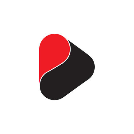 letter d symbol curves dimensional flat logo vector