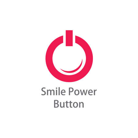 power of smile symbol logo vector